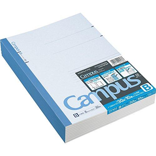 "Kokuyo Campus Notebook Semi B5(""9.8×""7)- 6 mm - 35 Lines X 30 Sheets - Pack of 10 (Japan Import)"
