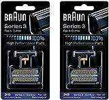 Braun Cortador Y 31B Serie 5000/6000 Contorno Flex Xp Integral Lámina Cabeza Recambio Combi Pack Negro, Conde 2