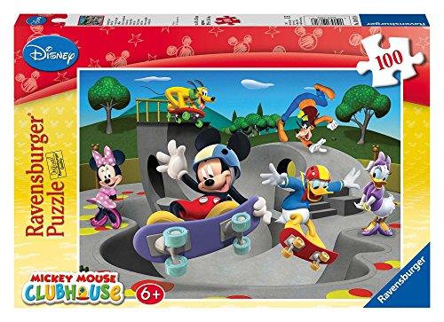 Ravensburger 108718 Puzzel Disney Mickey Mouse Mickeys Vrolijke Skate Club - Legpuzzel - 100 Stukjes