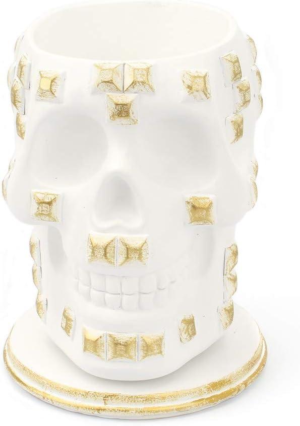 HJUFD Statue Virginia Beach Mall Sculpture Rotating Minneapolis Mall Skull Storage Makeup Table Tube