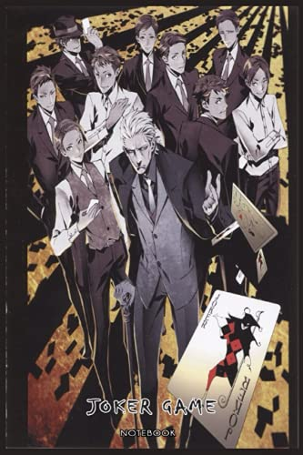 Joker Game: NOTEBOOK FOR ANIME AND MANGA FANS ( 6 x 9 ) 120 PAGES - GIFT IDEAS