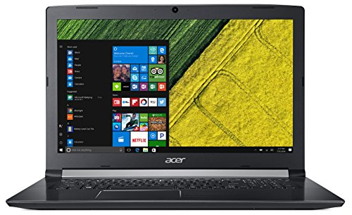 "Acer Aspire 5 A517-51-544M - Ordenador portátil de 17.3"" HD (Intel Core i5-7200U, 8 GB RAM, 1000 GB HDD, Intel HD 620, Windows 10 Home) Negro - Teclado QWERTY Español"
