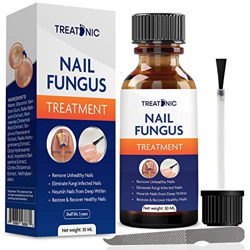 Nail Fungal Treatment for toenail by Treatonic - Best Nail Repair Set, Stop Fungal Growth, Effective Fingernail & Toenail Solution, Fix & Renew Damaged, Broken, Cracked & Discolored Nails (1 OZ)