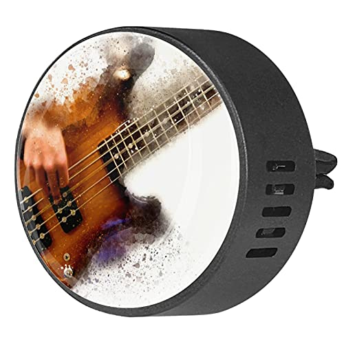 Difusor de coche para clips de ventilación de aceite esencial,Guitarra eléctrica abstracta...