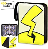 Trading Card Book Binder Holder Carrying Collectors Album Folder Compatible with Pokemon Cards-Holds Up to 400 Pockets Sleeve with 50 Premium 4-Pocket Pages