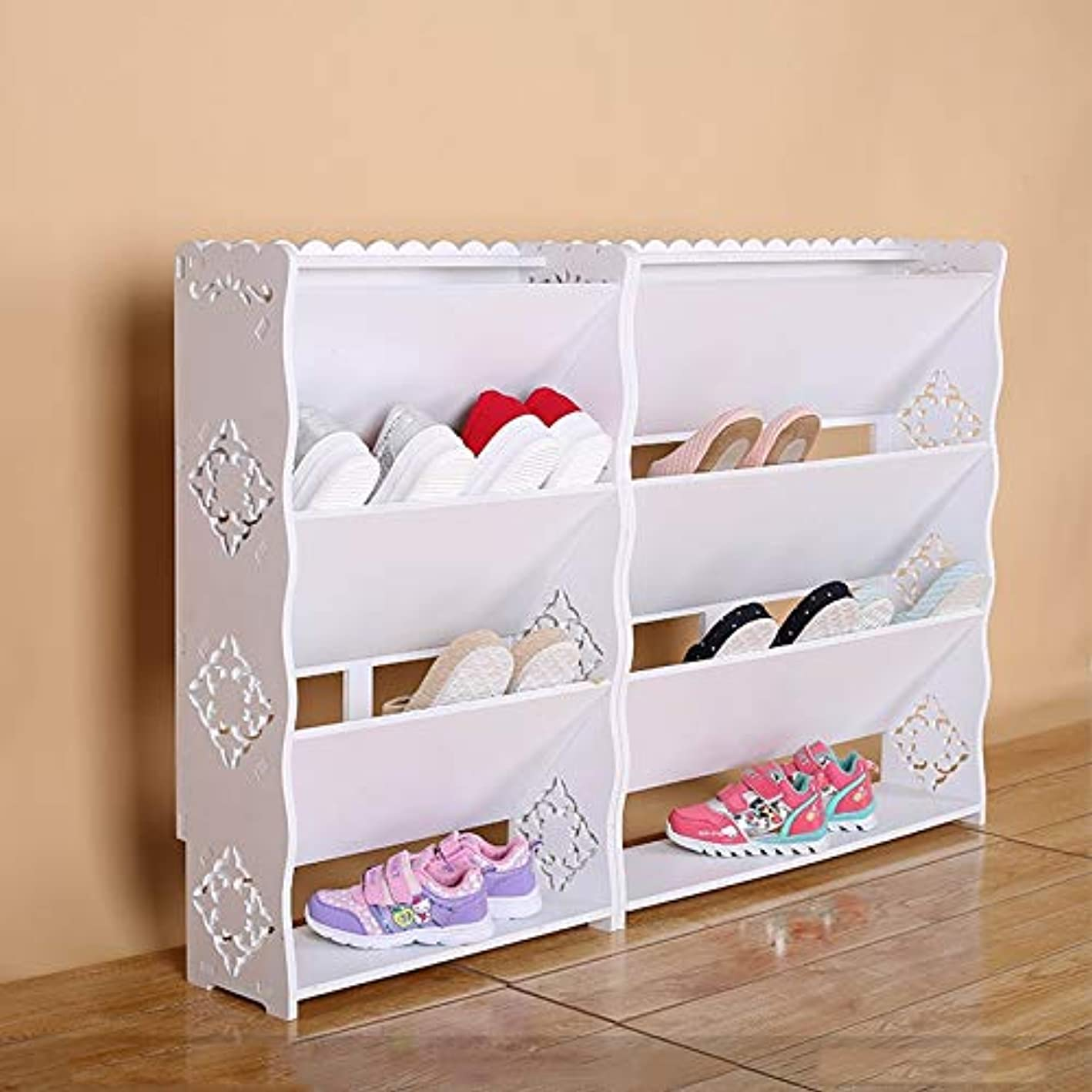 RMJAI Shoe Rack Shoe Organizer Storage Shelf Tilt White Bathroom Door Shoe Organizer (Color : B, Size : XL)