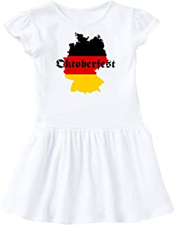inktastic Oktoberfest Germany Map Flag Toddler Dress