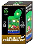 Light-up Terrarium Kit for Kids LED Light on Lid - Science Kit for Kids - Crafts & Arts Create Customized Mini Garden for Children - Toys Gifts for Boys & Girls Age 3, 4, 5, 6, 7+ Year Old - Kids Toys