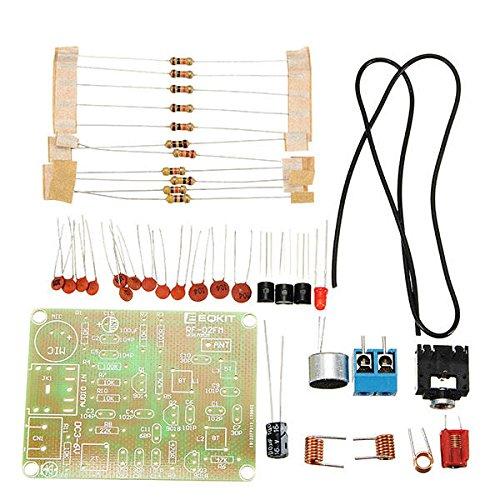 KASILU Dlb0109 Kit de transmisor FM RF-02 Sintonizador Piezas de micrófono Repetidor MP3 Micro Transmisor con Antena Alto Rendimiento