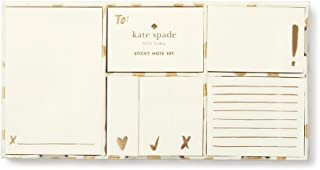 Kate Spade New York Women's Sticky Note Set, Flamingo Dot Gold