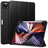 ZtotopCases Funda para Nuevo iPad Pro 11 Pulgadas (2021), Ultra Delgada Smart Case con Soporte Incorporado Portalápices, Carcasa Trasera Suave de TPU con Función de Auto-Sueño/Estela, Negro