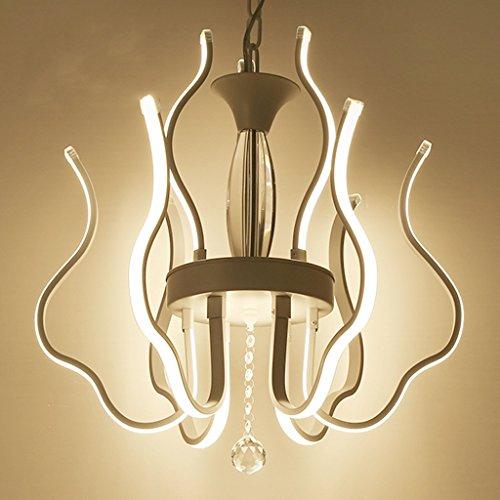 William 33 LED Postmodern Fer Aluminium Acryl LED Lampe LED Lumière Pendentif Lumières Pendentif Lampe LED Pendentif Lumière Pour Foyer Salle À Manger (Couleur : Lumière chaude)