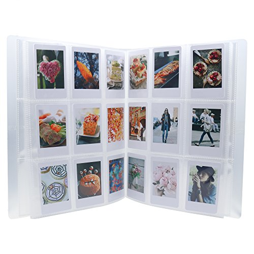 Ablus 288 Pockets Mini Photo Album for Fujifilm Instax Mini 7s 8 8+ 9 25 26 50s 70 90 Film, Name Card & 3 Inch Pictures (288 Pockets, Clear)