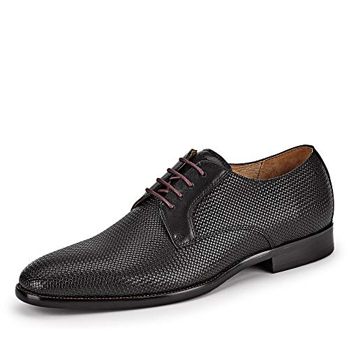 DIGEL 1001921 10 eleganter Herren Schnürschuh aus Glattleder Lederausstattung, Groesse 42, schwarz