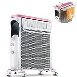 Calentador de radiador eléctrico portátil de 12 aletas de 2KW...