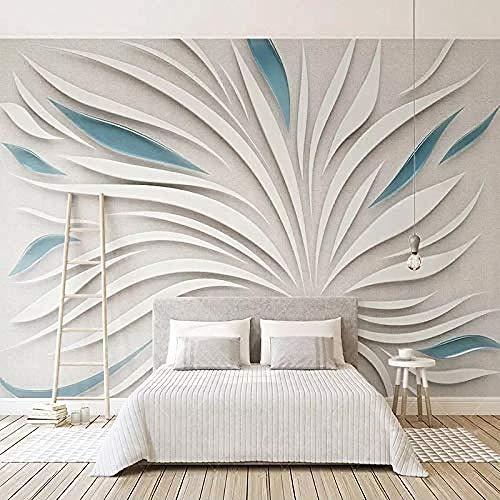 Abstrakte weiße blaue Luftschlangen-Kreativserie Anpassen 4D Tapete TV-Hintergrund Wanddekoration Kunst HD-Druck Po Tapete wandpapier fototapete 3d effekt tapeten Wohnzimmer Schlafzimmer-300cm×210cm