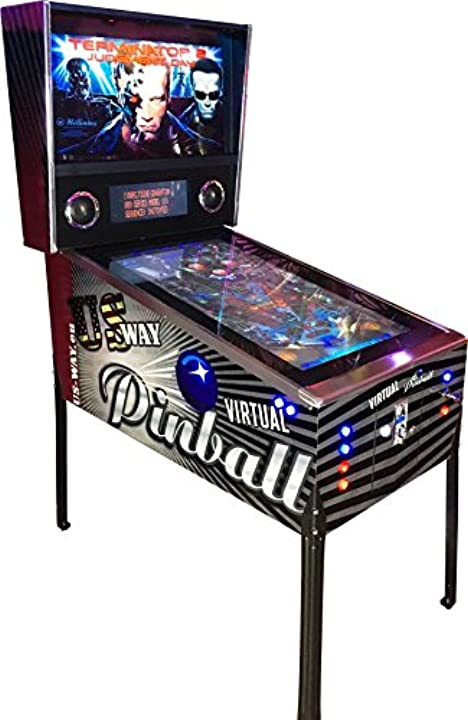 Flipper terminator 2 vp-01 - macchina per videogiochi, virtual pinball flipper arcade video  	us-way e.k.