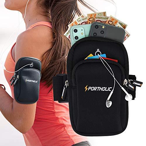 Sport Armband Armtasche, Sportarmband Armband Handy für iPhone 11 Pro Max XS Mas, Armtasche Armbinder Arm JoggingTasche für Huawei P30 P20 Pro Mate 20, Galaxy S20 Ultra S20+ S10, Bis zu 8 Zoll