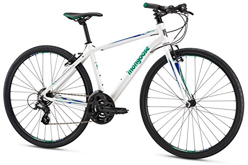 Mongoose Artery Sport Gravel Road Bike with Aluminum Frame and 700c Wheels, 15-Inch/Small Frame, White