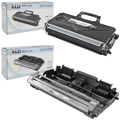 LD Compatible Toner Cartridge & Drum Unit Replacements for Brother TN360 High Yield & DR360 (1 Toner, 1 Drum, 2-Pack)