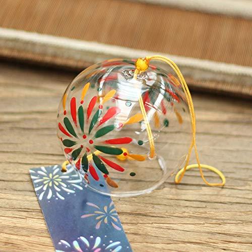 風鈴 ガラス 江戸風鈴 ウィンドチャイム かわいい 夏の風物詩 涼しい 装飾 花火