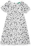 United Colors of Benetton Dress Vestido, Blanco (Bianco/Allover 65p), Talla única (Talla del Fabricante: 1Y) para Niñas