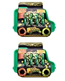 Evriholder Taco Truck Plate 2 Pack, Fun Shape for Tacos, Great for Parties, Whole Taco Meal for Kids and Adults, Green, Includes 2 Plates and 4 Salsa Cups, one size (1987A2P6-AMZ)