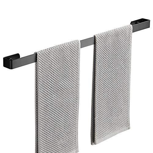 Handtuchhalter Ohne Bohren/Handtuchhalter Bad Selbstklebend,Patentierter Kleber,Wand,304 Edelstahl,Schwarz,60cm