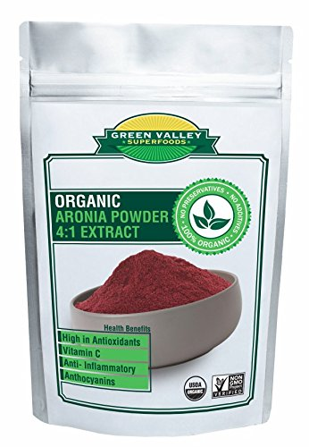 Green Valley Superfoods Organic Aronia Berry 4:1 Extract Chokeberry Powder (1 Pound)
