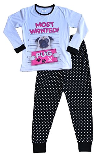 Thepyjamafactory - Pijama - niña Negro Blanco 11-12