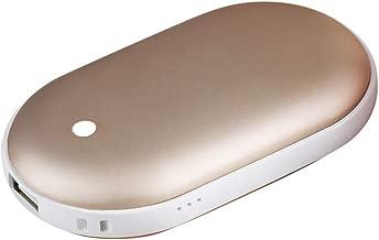Valpha Calentadores de manos recargables 5200 mAh reutilizables escalada calentador de manos//banco de energ/ía de calentamiento r/ápido ideal para esqu/í USB senderismo port/átiles doble cara el/éctrico de bolsillo