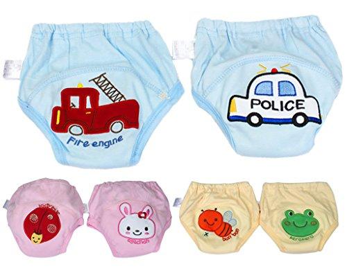 BONAMART BONAMART Trainingshose Stoffwindeln Windeln Unterhosen Töpfchen Für Kinder Jungen, Unterwäsche Toilettensitz Kinder, 6 Einheiten Mehrfarbig, 95CM
