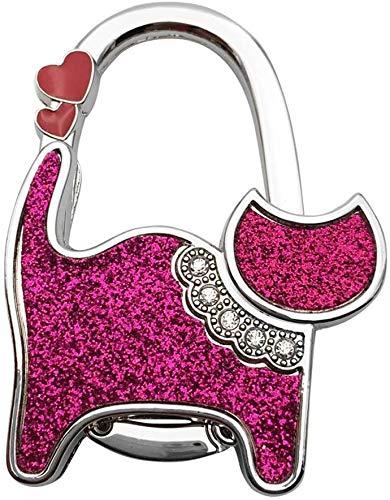Mini lindo gato plegable gancho de mesa para bolso de mano utilidad (color: A)