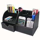 BTSKY Büro- / Schreibtisch-Organizer / Aufbewahrungsbox, multifunktional, aus Kunstleder, für...