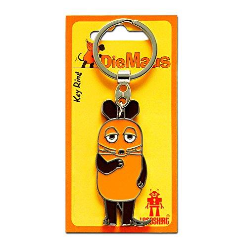 Logoshirt TV - Die Sendung mit der Maus - Die Maus Schlüsselanhänger - Key-Ring - farbig - Lizenziertes Originaldesign