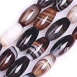 Piedras preciosas preciosas de ágata de Botswana ovaladas para hacer joyas de 15 pulgadas (8 x 16...
