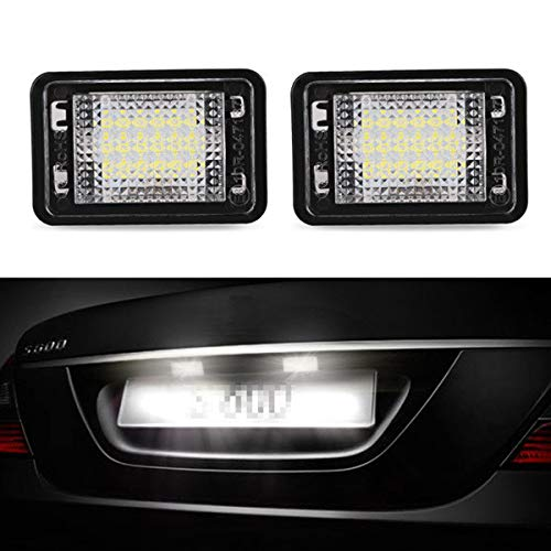 GOFORJUMP 2 stücke Für M/ERCEDES B/ENZ GLK X204 Canbus Fehlerfreie LED Kennzeichenbeleuchtung Weiß 12 V LED Kennzeichenleuchte für Benz Zubehör
