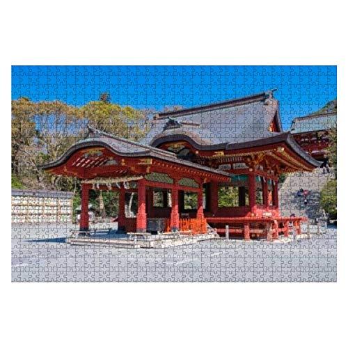 1000ピース ジグソーパズル 風景 鎌倉 鶴岡八幡宮 舞殿(下拝殿) 子供 おもちゃ 室内 プレゼント 誕生日プレゼント 女の子 男の子 知育玩具