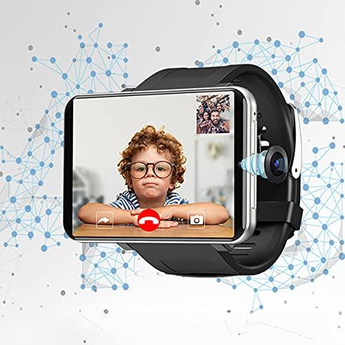 HIMAPETTR Sport Smartwatch, 2.86 Inch Impermeable Relojes Inteligente, 5MP CÁmara, para 4G Android 7.1 3GB/32GB, con GPS, Llamada, Chat Voz, Juegos, 2700mAh, para Hombres, Mujeres,Silver Gray