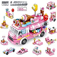 Panlos Stem 553-Pieces Educational Ice Cream Car Building Bricks Toy