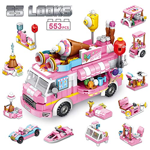 PANLOS STEM Educational Learning Building Bricks Toy 553 Pieces Ice Cream...