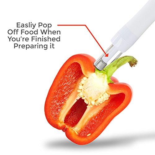 Prep N' Pop Vegetable/Potato Helper - Fork Pierce Hold, Peel Slice Chop, Release by FYEO