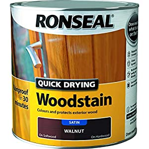Ronseal Quick Drying Woodstain Walnut Satin 2.5L