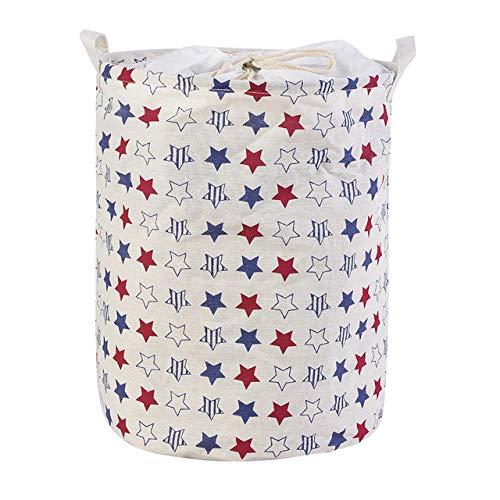 WUJIANCHAO 1pc Large Capacity Folding Laundry Basket Round Storage Bin Bag Large Hamper Clothes Toy Basket Bucket Organizer 2020