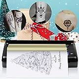 S SMAUTOP Máquina de Transferencia de Tatuajes Tattoo Printer Drawing Thermal Stencil Maker Herramienta de tatuaje profesional Diseño de dibujo Tattoo Máquina de Tatuaje (Negro)