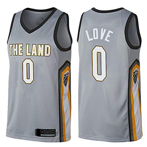 Uniformes De Baloncesto Para Hombres, Cleveland Cavaliers # 0 Kevin Love NBA Camisetas Sin Mangas Secado Rápido Chalecos Deportivos Sueltos Casuales Tops Camisetas De Baloncesto,Gris,XL(180~185CM)