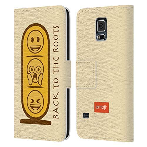 Head Case Designs Oficial Emoji Tableta Antiguo Egipto Carcasa de Cuero Tipo Libro Compatible con Samsung Galaxy S5 / S5 Neo