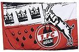 1. FC Köln Fahne/Hissfahne 80x120 cm ** Wappen ** mit Ösen