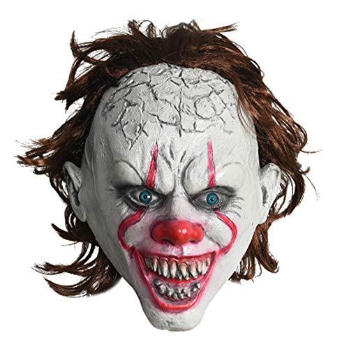 EXUVIATE Halloween Enge Latex Clown Maskers Horror Cosplay Volledige Hoofd Helm Kostuum Fancy Jurk Carnaval Merchandise
