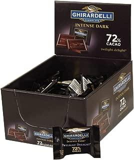 Intense Dark 72 Percent Cacao Twilight Delight Squares, .375 Ounce -- 50 per case.